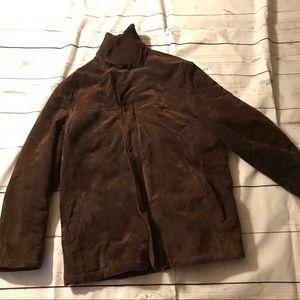 Perry Ellis Portfolio Suede Fur Jacket